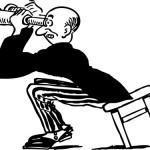 74-Free-Retro-Clipart-Illustration-Of-Man-Using-Binoculars
